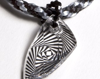 Swarovski Avant Garde Pendant On Kumihimo Necklace