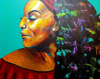 Original painting (18x24in) Jessye Norman
