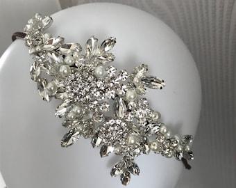 Bridal headpiece leaves tiara - bridal headband - wedding headpiece - Bridal headband - Bridal headpiece - Headband - 1920s style