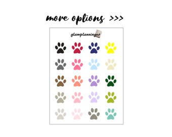 Functional - Pet paw planner stickers
