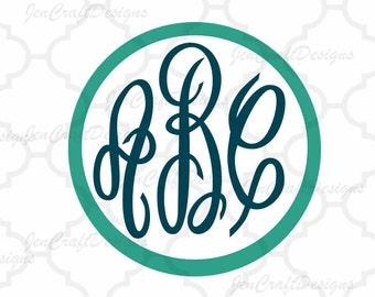 Master Circle Monogram font SVG , DXF, EPS, Jpg.  Free frames Cricut Ds, Silhouette, A-Z Fancy Circle Monogram Svg Font, Digital Cut Files