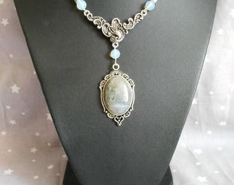 Vintage Moonstone and Labradorite necklace