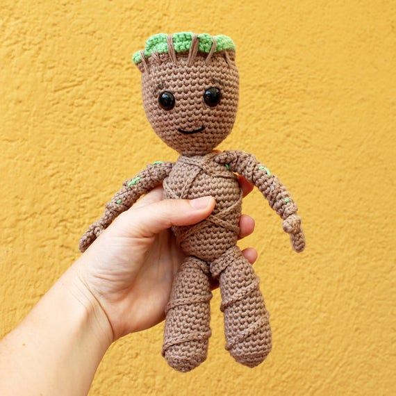 Baby Groot - Dolls and Toys. Amigurumi Toy, Guardians Of The Galaxy Doll, Kids Gift, Nerd DIY,  Made to Order, Children Gift, Nursery Doll
