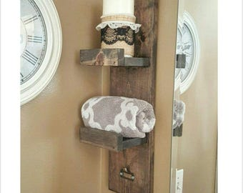 Towel Rack - Hand Towel Rack - Towel Holder - Rustic Towel Rack - Bath Towel Rack - Bathroom Towel Rack