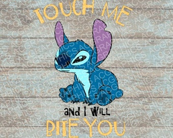 Touch Me and I Will Bite You SVG, DXF, JPEG, and Studio Downloads