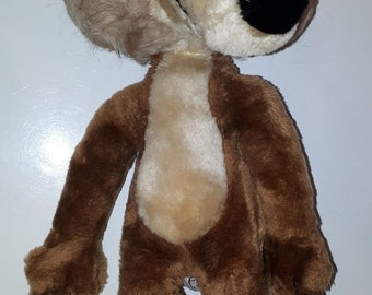Vintage Wile E Coyote Plush Warner Bros Mighty Star 1971