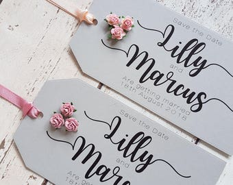 Save the Date, Wedding, Save the Date Tags, Grey Save the Dates, SAMPLE TAG. Wedding Invitation, Save the Date Magnets, Rustic Wedding
