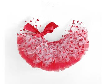 XOXO, Valentines Day tutu, Valentine's Day, heart tutu, tutu, baby tutu, toddler tutu, short tutu, pink tutu, red tutu