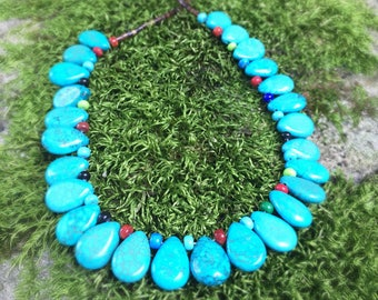 Genuine Turquoise Necklace, Colorado Turquoise, Genuine Turquoise, Turquoise Jewelry, Authentic Turquoise, South Western, Gift for Her
