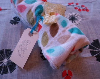 White Leaves Baby Security Blanket