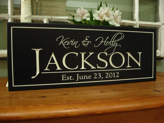 Wedding Gift Signs: Personalized Family Sign Bridal Shower Gift Family Name