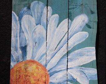 Daisy Pallet Wall Art