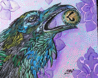 Huginn - 5 x 7 print - signed and numbered