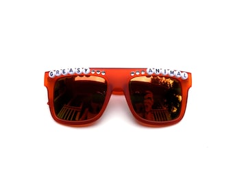 """Umphrey's Mcgee Ringo """"Greasy Animal"""" decorated sunglasses by Baba Cool 