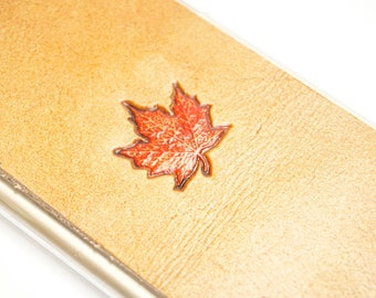 Leather Galaxy S7 Case   Maple Leaf
