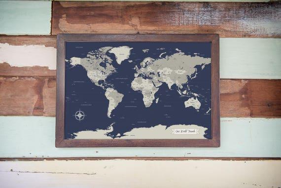 Sale world map husband gift push pin world map map art gumiabroncs Image collections