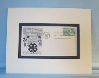 Honoring the 4-H Organization & First Day Cover of the 50th Anniversary of the 4-H Club stamp
