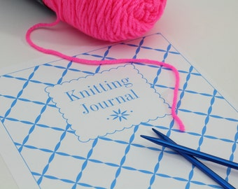 Printable Knitting Binder Set Knitting Journal Pages