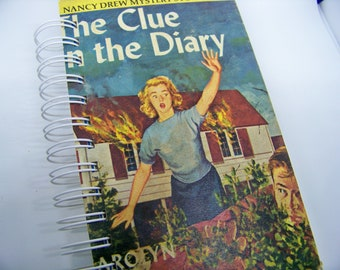 Nancy Drew Clue in the Diary book journal planner diary altered book