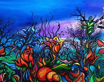 """Luxuriance"" - painting on canvas Board"