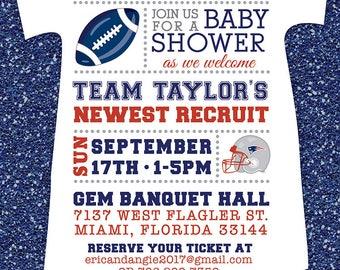 FOOTBALL BABY Shower Boy INVITATION Football Digital/Printable File