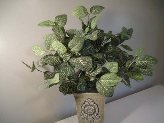 Large silk plant floral bushes greenery artificial floral bush diy large silk plant floral bushes greenery artificial floral bush diy fittonia silk flower supplies 236a from foreverbloomsbylori on etsy studio mightylinksfo