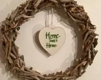 MADE to order wreath for wall decor, driftwood door