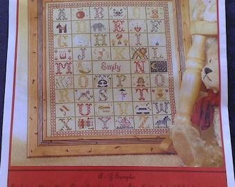 A - Z Alphabet Sampler -  Cross Stitch Kit  - Historical Sampler Company Ltd.