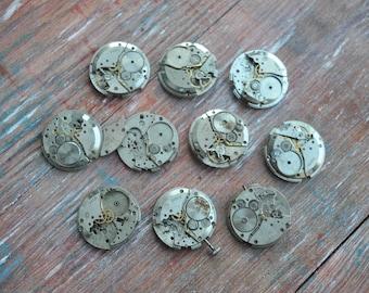 VOSTOK 0.9 inch Set of 10 vintage wrist watch movements.