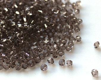 Swarovski Crystal Bicone Beads 5328 Greige 3 mm. Swarovski Crystal Beads, 3 mm Gray swarovski. 3mm Gray swarovski.