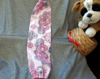 Plastic Bag Holder Sock, Henna Elephant Pink Print