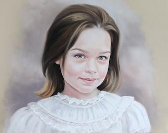 Pastel portrait commission