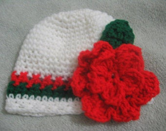 Crochet baby Christmas Hat 0-3m