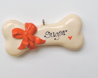 Personalized Dogbone Christmas Ornament