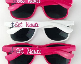 Custom Sunglasses -Get Nauti - Personalized Sunglasses - Bridal Party Gifts - Wedding Party Gifts - Bridesmaid Gift - Bachelorette Favor