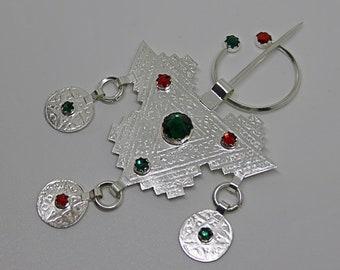 Vintage silver Berber amazigh jewelry pin