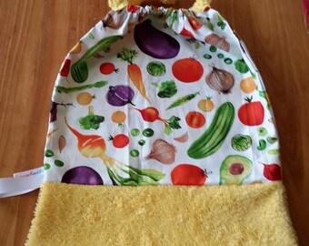 Native towel: printed fruits / vegetables, customizable