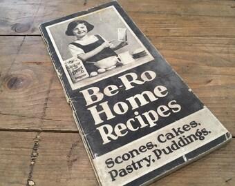 Vintage Sepia Be-Ro Bero Home Recipe Book 16th Edition 1928