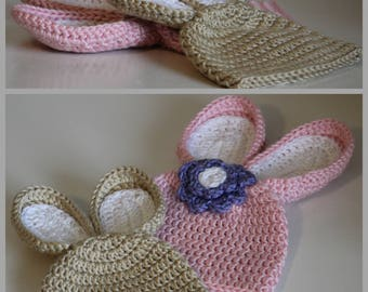 Baby Bunny Hat Crochet Pattern ... Size: Newborn, 3-6 mo, 6- 12 mo, Toddler ... Photo Prop ... Instant Download