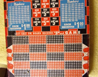 1950's Checkboard Charley Gambling Punch Board