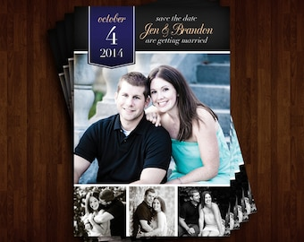 Collage Save the Date Invitation