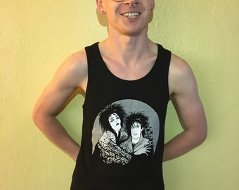 Siouxsie Sioux & Robert Smith Hand Screen-Printed Tank Top
