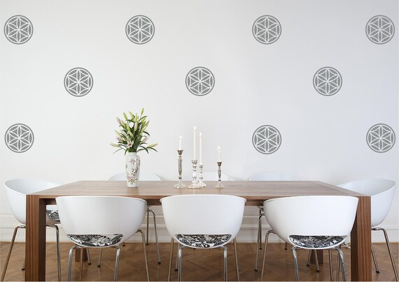 Flower of Life Mini Vinyl Wall Decal/small flower of life decal/Seed of Life decal/Namaste spiritual decal/wedding gift/anniversary gift