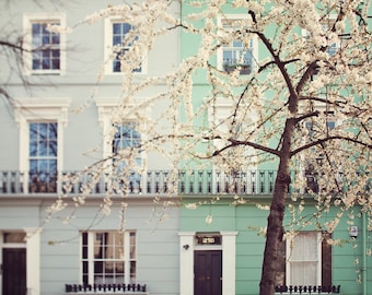 """London Photography Print, London Wall Art, Large Wall Art Print, London Prints, Travel, Notting Hill """"I Love London in the Spring"""""""