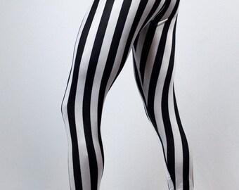 White Striped Pirate Pants // Steampunk Pants // Circus Pants // Renaissance leggings