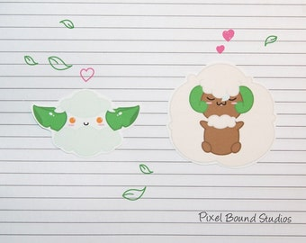 Cottonee/Whimsicott Stickers and Magnets