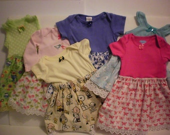 SALE! Infant girl onesie dress - 6-9 months