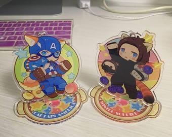 Captain America and Winter soldier Acrylic desktop decoration