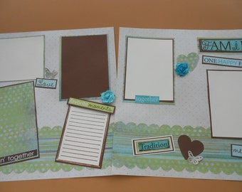 Family scrapbook album pre made 12 by 12   pages  Family memories