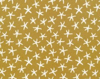 Starfish in Seaweed - Underwater - Elizabeth Olwen - Organic Cotton - Cloud 9 Fabrics - 1 Yard